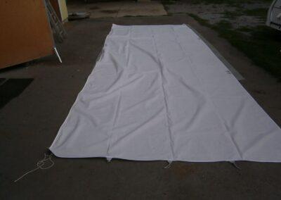 Letní střecha ke karavanu – TROPI č. T010819 velikost 600 cm + tyče